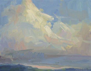 Christine Lafuente, Big Cloud, 2020, Oil on canvas, 11 x 14 inches