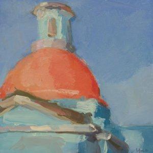 Christine Lafuente, Capilla Dome, 2020, Oil on mounted linen, 12 x 12 inches