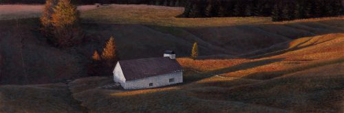Timothy Barr, Indian Summer, Oil on panel, 12 x 36 inches