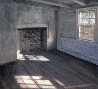 Timothy Barr, The White Room, Oil on board, 18 x 20 inches