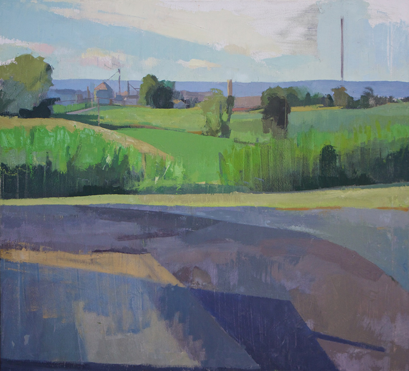 Kristen Peyton, From the Mennonite Church, 2020, Oil on canvas, 31 x 28 inches