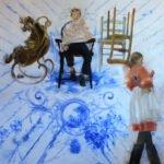 Sarah McRae Morton, Coronation, 2020, Oil on linen, 76 x 76 inches
