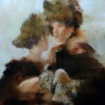 Sarah McRae Morton, Croquet, 2020, Oil on wood, 39 ½ x 31 ½ inches