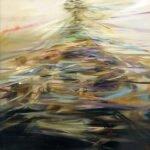 Sarah McRae Morton, Homer, 2020, Oil on board, 16 x 16 inches
