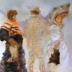 Sarah McRae Morton, Shepherds of Sky and Sea, 2020, Oil on linen, 31 ½ x 39 ½ inches