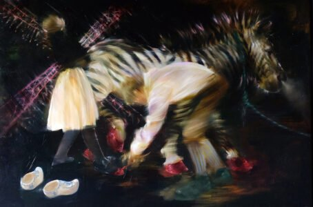 Sarah McRae Morton, The Fair, 2020, Oil on linen, 40 x 59 ½ inches