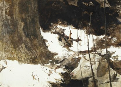 Andrew Wyeth (1917-2009), Nell, 1976, Watercolor on paper, 20 ⅞ x 29 ½ inches