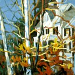 Philip Koch, Autumn Front Yard (SOLD), 2021, Oil on panel, 15 x 20 inches