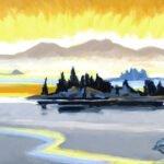 Philip Koch, Awakening (SOLD), 2020, Oil on panel, 12 x 24 inches