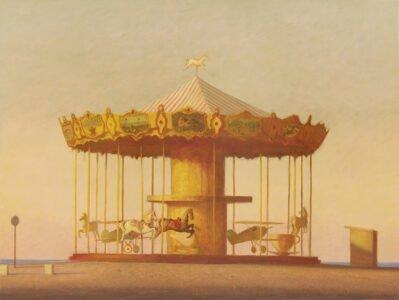 Bo Bartlett, Carousel (Arcachon), 2020, Oil on panel, 42 ¾ x 56 ¾ inches