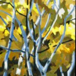 Philip Koch, Forest Canopy, 2020, Oil on panel, 16 x 12 inches
