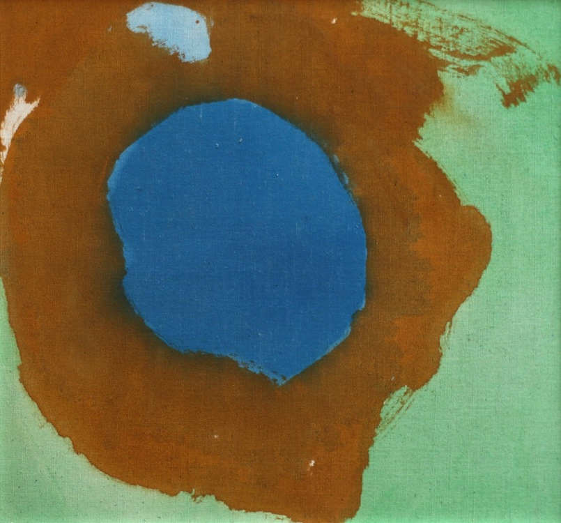 Helen Frankenthaler, Untitled, c. 1989, Oil on linen-covered book, 11 ½ x 11 ½ x 1 ¾ inches, On loan from Marsha Rothman