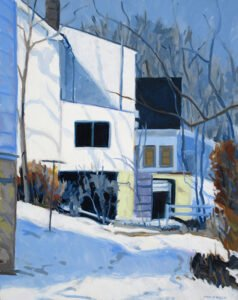 Philip Koch, Houses on the Hill, 2020, Oil on canvas, 36 x 24 inches