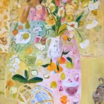 Elizabeth Endres, Cat Crossing (SOLD), 2020, Oil on linen, 48 x 36 inches