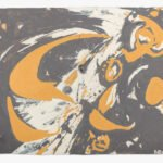 Lee Krasner, Untitled (Abstract), 1979, Oil on paper, 22 ¼ x 30 ½ inches, On loan from the Pollock-Krasner Foundation