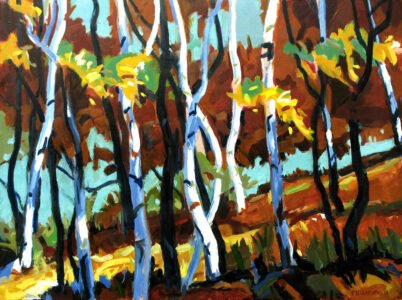Philip Koch, Light in the Forest (SOLD), 2020, Oil on panel, 18 x 24 inches