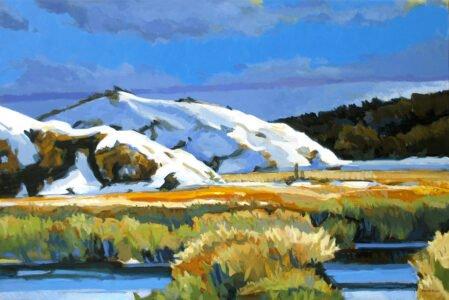 Philip Koch, Bright October Sun, 2019, Oil on canvas, 36 x 54 inches