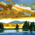 Philip Koch, Coastal Lake (SOLD), 2020, Oil on panel, 18 x 24 inches