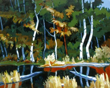 Philip Koch, Deep Forest Pool (SOLD), 2020, Oil on panel, 32 x 40 inches