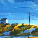 Philip Koch; Edward Hopper's Studio, Truro; 2020; Oil on canvas; 28 x 56 inches