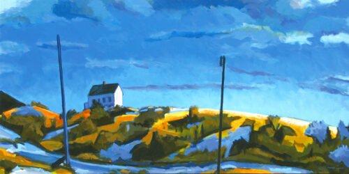 Philip Koch; Edward Hopper's Studio, Truro (SOLD); 2020; Oil on canvas; 28 x 56 inches