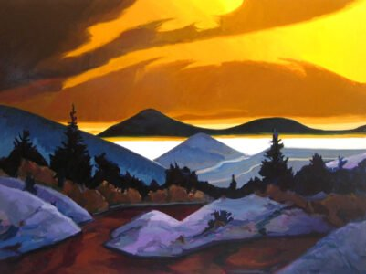Philip Koch, Yellow Arcadia, 2006, Oil on panel, 30 x 40 inches