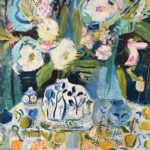Elizabeth Endres, Blue Still Life (SOLD), 2021, Oil on canvas, 30 x 40 inches