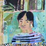 Elizabeth Endres, Familiar Face, 2021, Oil on canvas, 12 x 12 inches