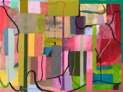 Bill Scott, Dulcimer, 2004, Oil on linen, 18 x 24 inches