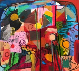 Bill Scott, One Orange Left, 2014, Oil on canvas, 39 x 43 inches