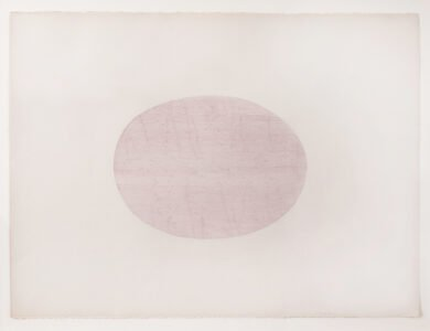 Cheryl Levin, Lines in the Shape of A Bowl Forged by Bob Phillips, 2020, Ink on printmaking paper, 22 ¼ x 30 inches