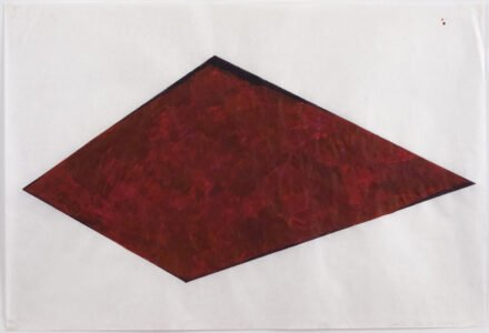 Cheryl Levin, Maroon Shape, Ink on rice paper, 18 x 24 inches