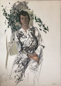 Elaine de Kooning, Portrait of Lee Hall, 1978, Oil on canvas, 50 x 36 inches