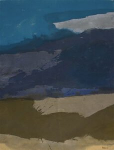 Lee Hall, Afternoon Storm Shore: Connecticut August, 1981, Acrylic on canvas, 40 ½ x 30 ¾ inches