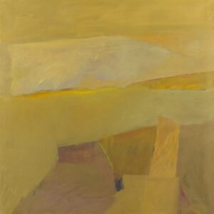 Lee Hall, New Mexico Horizon, 1983, Oil on linen, 50 x 50 inches
