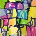 Melissa Meyer, Raycie Series no. III, 2011, Watercolor, 38 x 25 inches