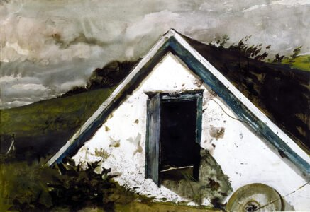 Andrew Wyeth (1917-2009), Grindstone, 1981, Watercolor, 20 ½ x 29 ½ inches