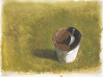 Bo Bartlett, Peat Bucket, 2020, Gouache on paper, 22 ½ x 30 inches