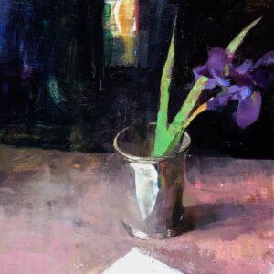 Jon Redmond, Iris, 2021, Oil on board, 10 x 10 inches
