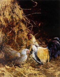 Jamie Wyeth, Haymow (SOLD), 1986, Mixed media, 28 ¼ x 22 ¼ inches