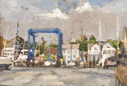 Michael Doyle, Clearing Storm, 2021, Oil on panel, 9 x 6 inches