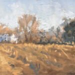 Michael Doyle, Spring Beginnings (SOLD), 2021, Oil on panel, 9 ½ x 4 ¼ inches