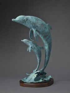 Rikki Morley Saunders, Madonna and Child (SOLD), 2021, Bronze, 16 ½ x 11 x 9 inches