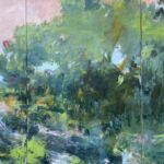Vicki Vinton, Back Way Home (SOLD), 2021, Mixed media on canvas, 36 x 72 inches